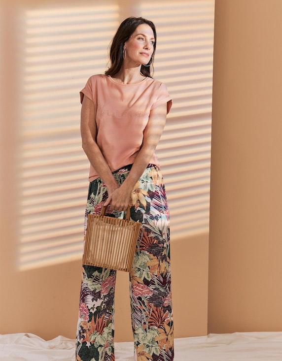 Bexleys woman Kurzarmshirt mit verzierter Front in Rose | ADLER Mode Onlineshop