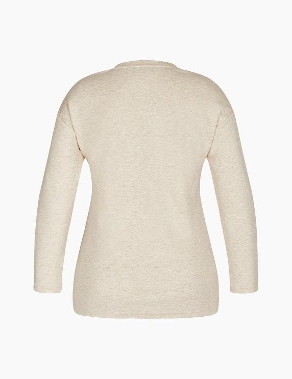 Bexleys woman Sweatshirt mit Frontprint und Galonstreifen   ADLER Mode Onlineshop