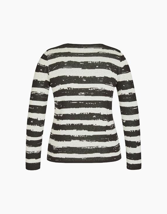 Bexleys woman Pullover mit Streifen und Blumenprint | ADLER Mode Onlineshop