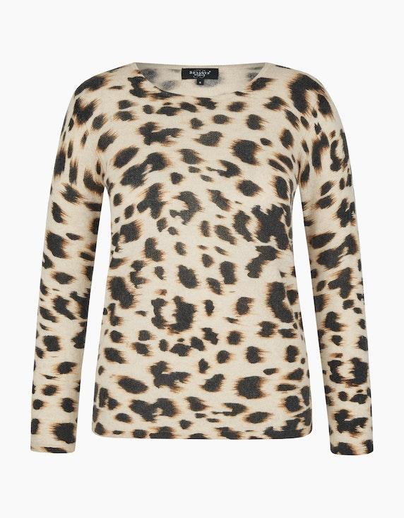 Bexleys woman Cashmere-Pullover im modischen Leoprint in Leoprint | ADLER Mode Onlineshop