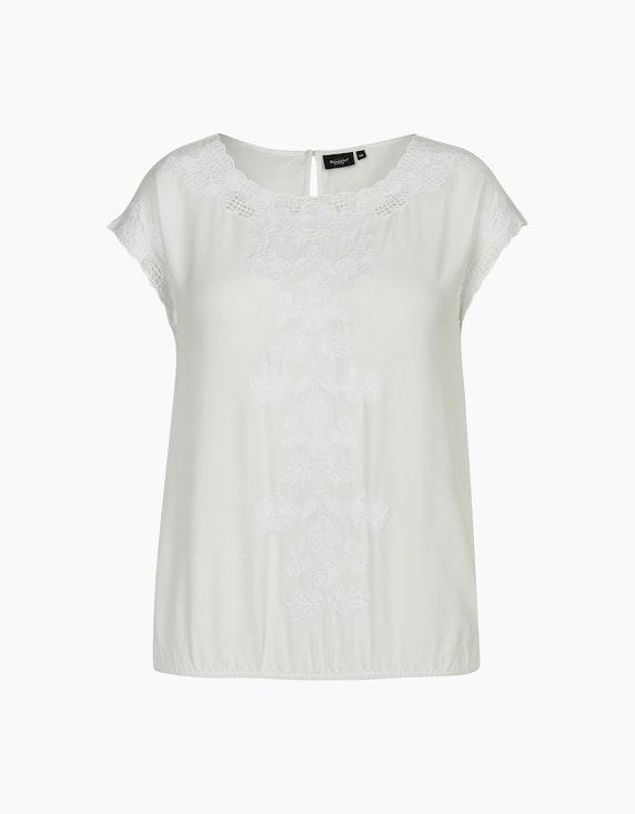 Bexleys woman Schlupfbluse mit Stickerei und Lochstickerei in Weiß | ADLER Mode Onlineshop