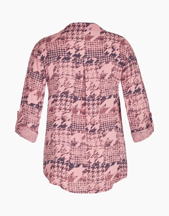 Made in Italy Bluse mit Hahnentritt-Muster   ADLER Mode Onlineshop