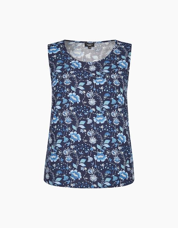 Bexleys woman Blusentop mit verspieltem Blumen-Druck in Blau/Weiß | ADLER Mode Onlineshop