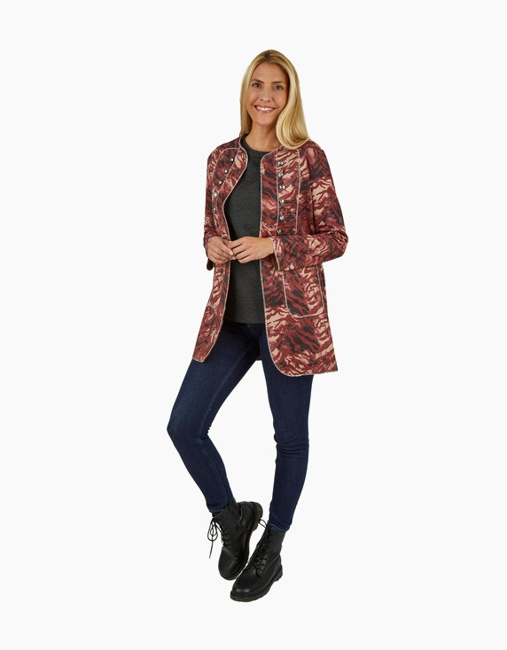 Made in Italy Longblazer im Muster-Mix | ADLER Mode Onlineshop