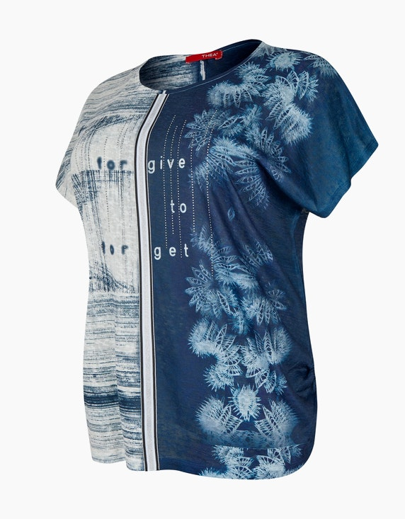 Thea gemustertes Feinstrick-Shirt mit Effekt-Tape und Ziersteinen   ADLER Mode Onlineshop