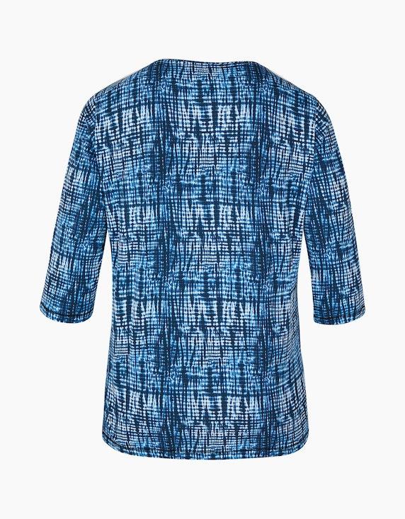 Thea Shirt mit Alloverdruck und 3/4-Ärmel   ADLER Mode Onlineshop