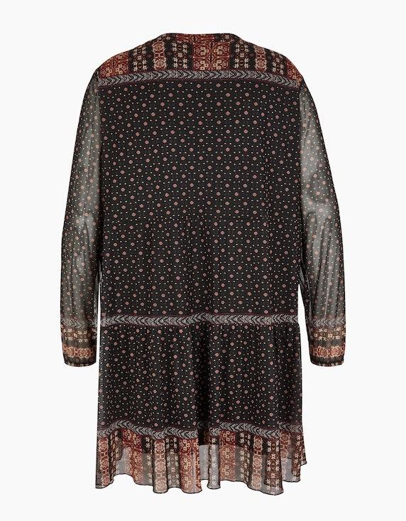 Thea Lange Tunika-Bluse in Mesh-Qualität | ADLER Mode Onlineshop