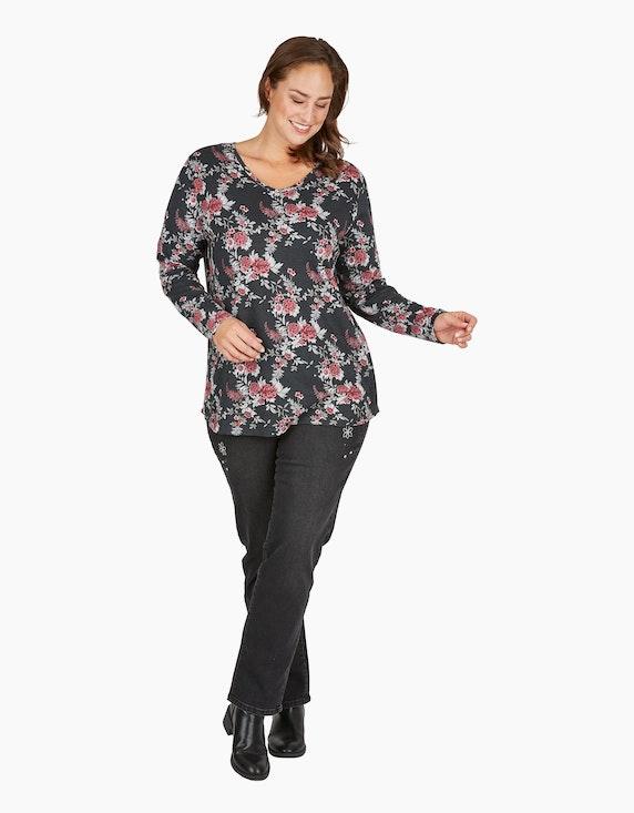 Thea Denim-Jeanshose mit Stickerei und Schmucksteinen   ADLER Mode Onlineshop