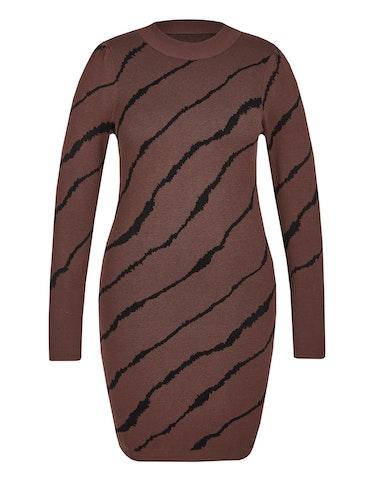 Produktbild zu Enges Strickkleid im Zebra-Look von Viventy