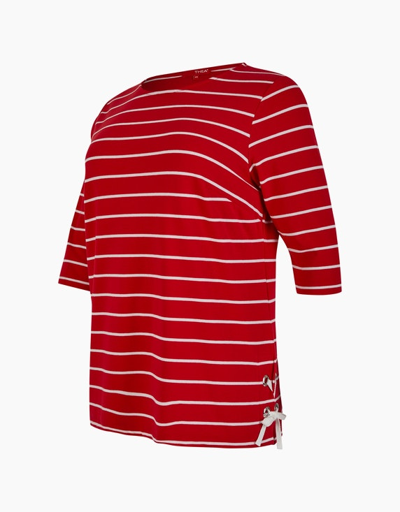Thea Streifen-Shirt mit Schnürung | ADLER Mode Onlineshop