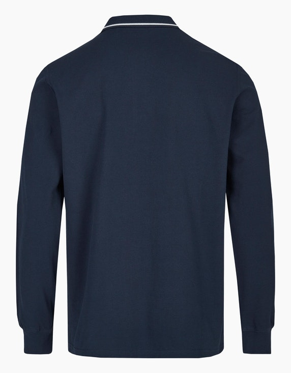 Via Cortesa Piqué-Poloshirt mit langen Ärmeln   ADLER Mode Onlineshop