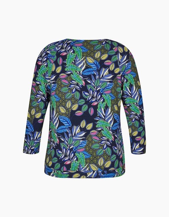 Steilmann Woman Shirt mit Blätterdruck und Raglanärmeln   ADLER Mode Onlineshop