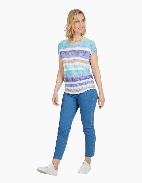 Steilmann Woman Shirt mit Streifen und Ausbrenner-Effekt | ADLER Mode Onlineshop