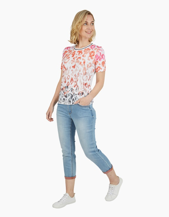 Steilmann Woman 7/8 Jeans mit kontrastfarbener Innenseite | ADLER Mode Onlineshop