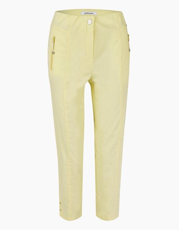 Steilmann Woman Bengalin-Hose mit Reißverschlusstaschen in Gelb | ADLER Mode Onlineshop