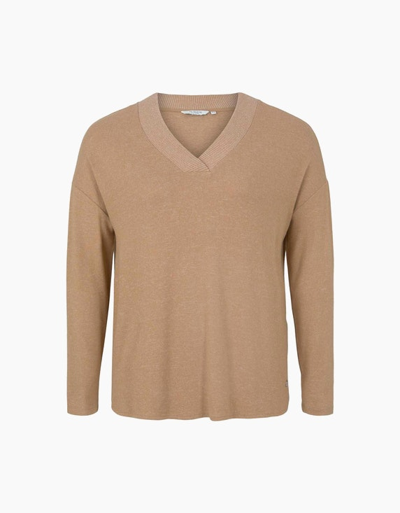 Tom Tailor Weiches Langarmshirt mit V-Ausschnitt | ADLER Mode Onlineshop