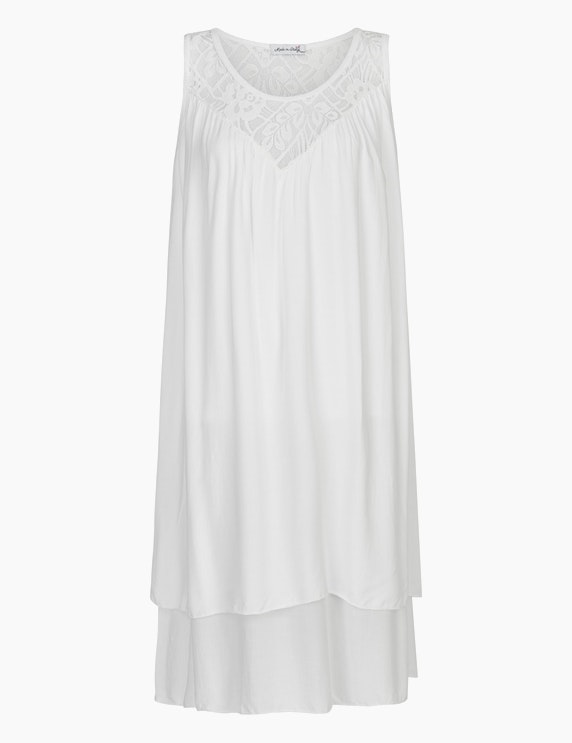 Made in Italy Sommerkleid im Lagen-Look in Weiß | ADLER Mode Onlineshop