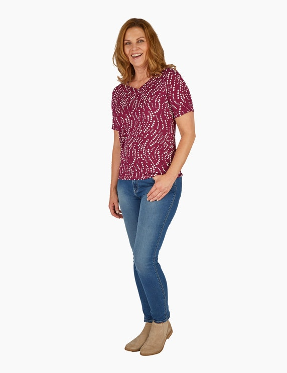 KS. selection Shirt mit Tupfenmuster | ADLER Mode Onlineshop