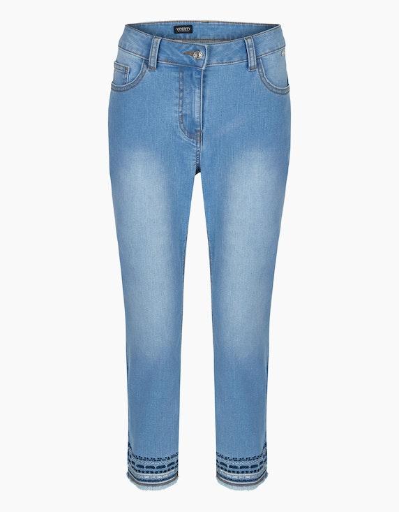 Viventy Jeanshose mit Stickerei in 7/8-Länge in Denim Blue | ADLER Mode Onlineshop