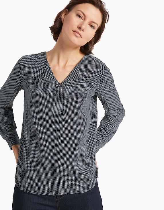 Tom Tailor Schlupf-Bluse mit Krempelärmel, reine Viskose   ADLER Mode Onlineshop