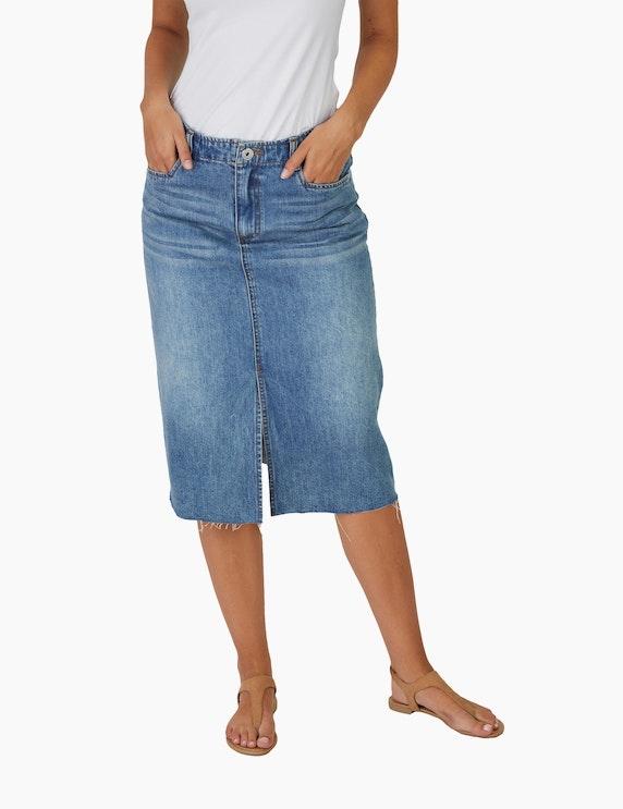 MY OWN Jeans-Rock mit offenem Saum | ADLER Mode Onlineshop