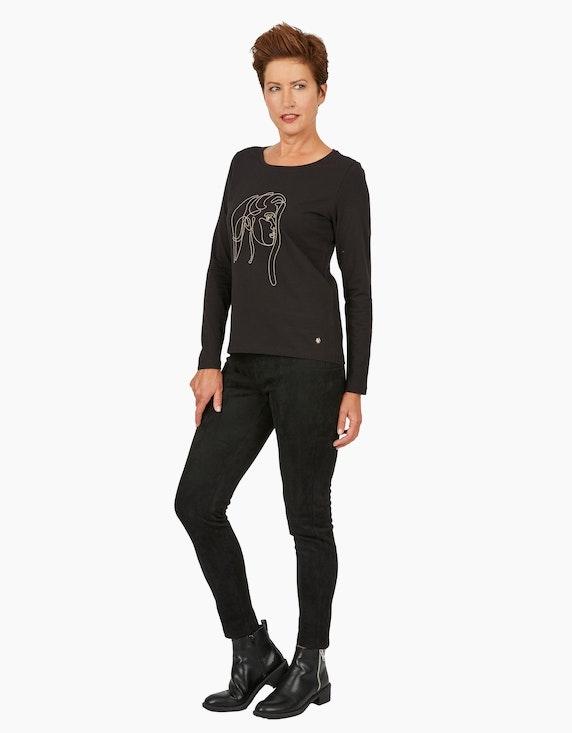 Viventy Shirt mit Partprint, Basic-Style   ADLER Mode Onlineshop