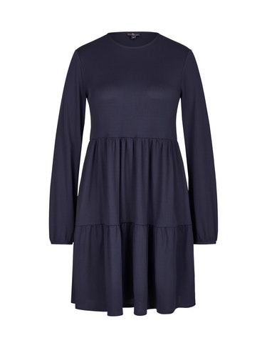 Produktbild zu Jersey-Kleid mit Volants von Via Cortesa