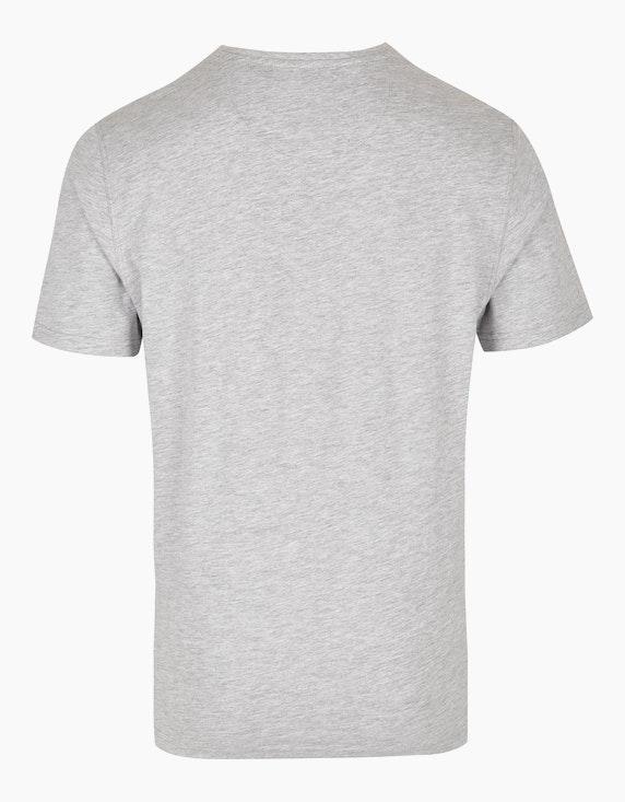 Bexleys man Shirt mit Melange-Effekt und Front-Print | ADLER Mode Onlineshop