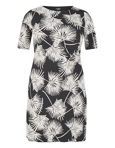 Produktbild zu Jerseykleid mit Druck und Drapierung von Bexleys woman