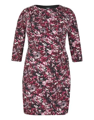 Produktbild zu Jerseykleid mit floralem Druck und gelegten Falten von Bexleys woman