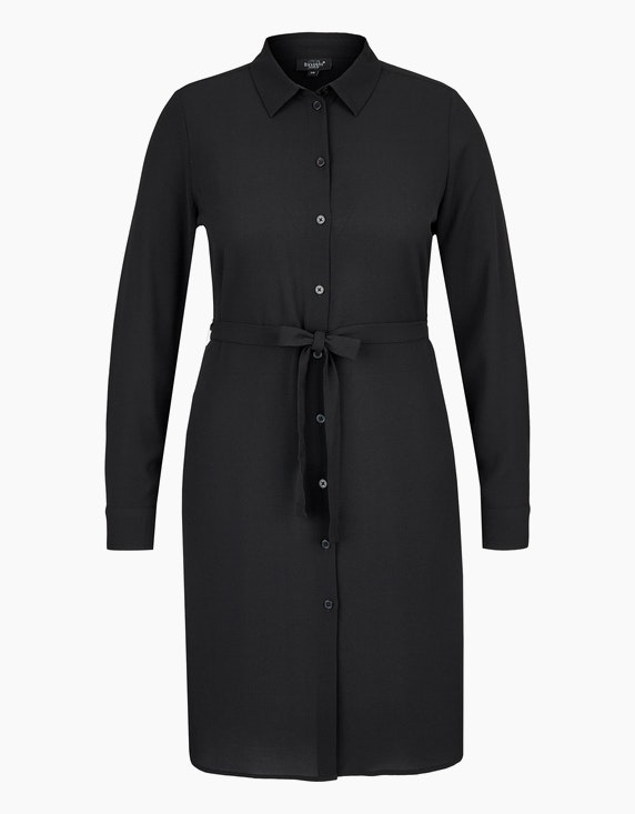 Bexleys woman Hemdblusenkleid aus Crêpe in Schwarz | ADLER Mode Onlineshop