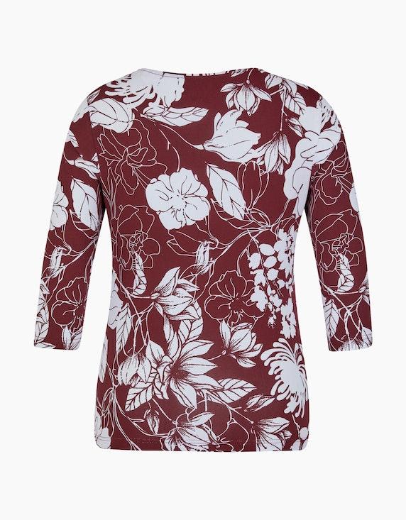 Malva Shirt mit 3/4-Arm in Floralem Design   ADLER Mode Onlineshop