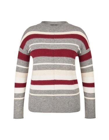 Produktbild zu Pullover mit Kaminkragen und Streifen von Bexleys woman