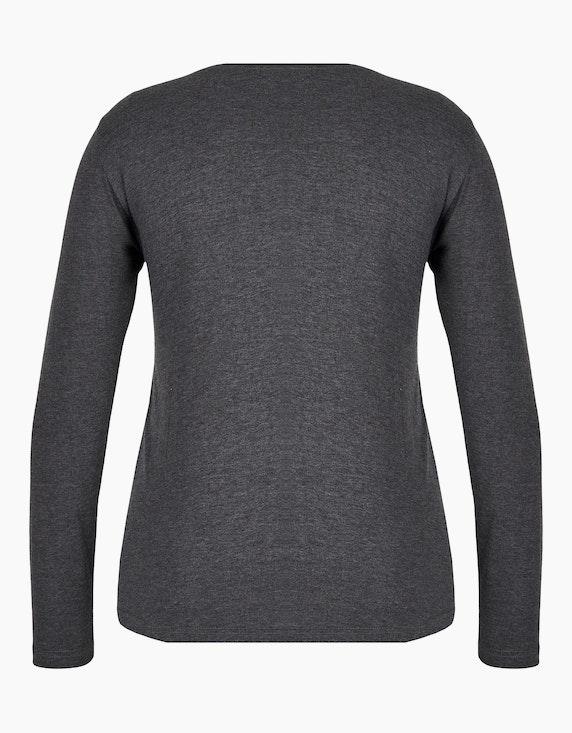 MY OWN Shirt mit Samt- und Weltkugelprint   ADLER Mode Onlineshop