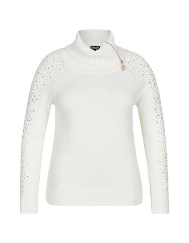 Produktbild zu Rollkragen-Pullover mit Reißverschluss und Ziernieten von Viventy