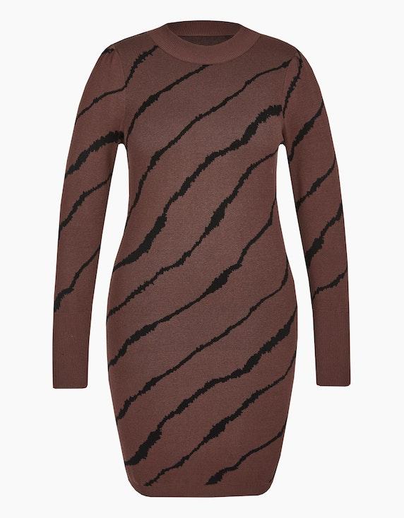 Viventy Enges Strickkleid im Zebra-Look in Braun/Schwarz | ADLER Mode Onlineshop