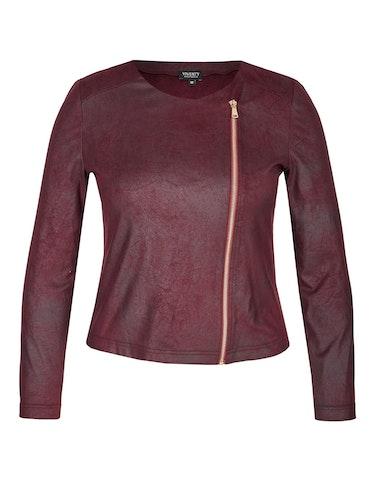 Produktbild zu Lederimitat-Jacke mit Reißverschluss von Viventy