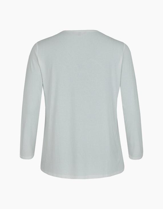 Thea Basic-Shirt mit Frontdruck und Ziersteinen | ADLER Mode Onlineshop