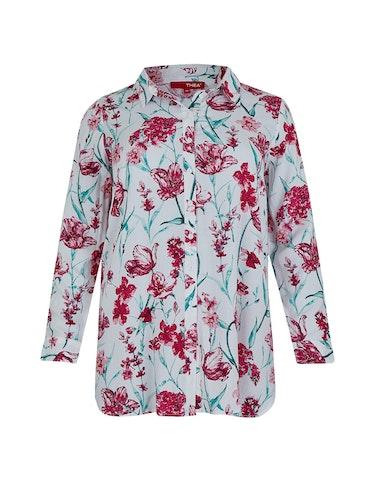 Produktbild zu <strong>Hemdbluse mit floralem Muster</strong>reine Viskose von Thea