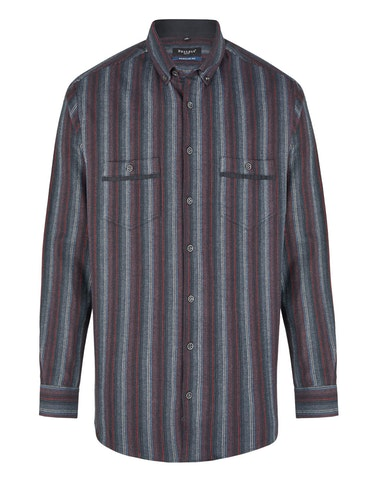 Produktbild zu <strong>Hemd in Flanell im gestreiften Dessin</strong>REGULAR FIT von Bexleys man