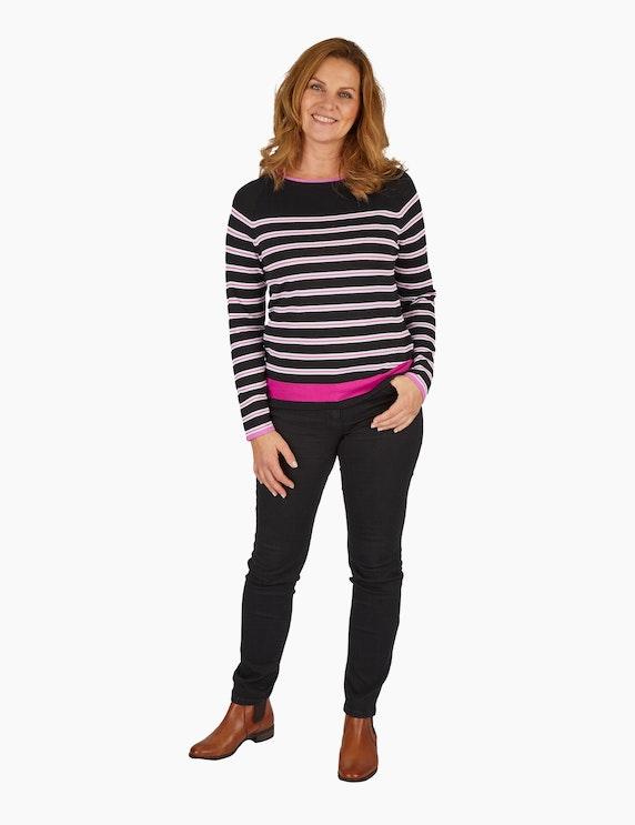 Steilmann Woman Feinstrickpullover mit Streifenmuster | ADLER Mode Onlineshop