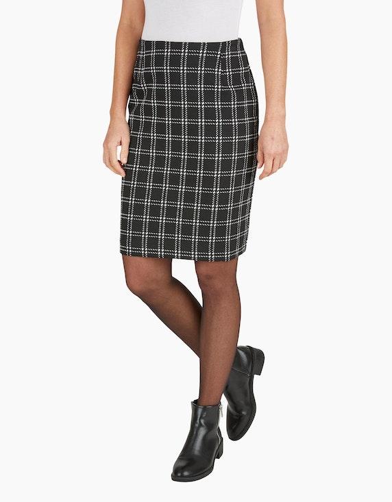 Bexleys woman Jerseyrock mit Karo-Muster | ADLER Mode Onlineshop