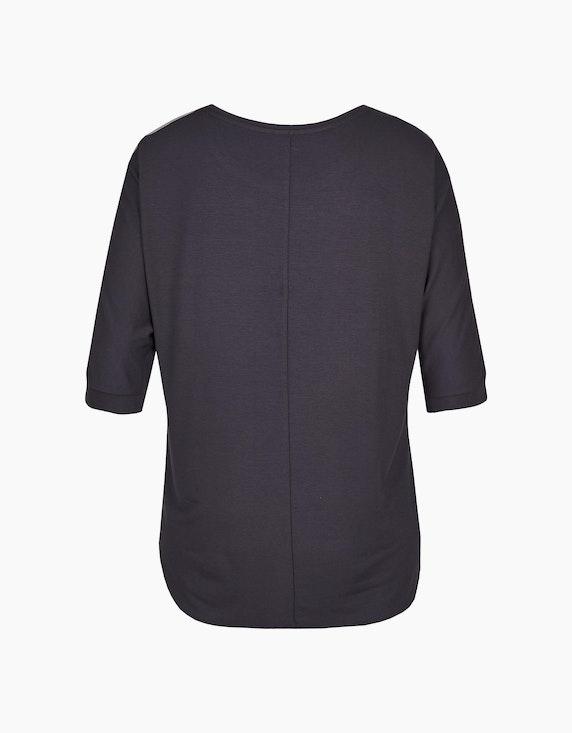 Thea Shirt mit Muster und Materialmix | ADLER Mode Onlineshop