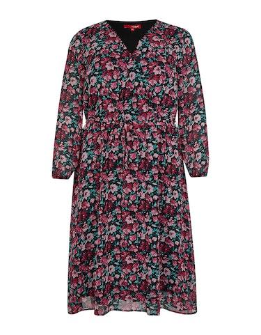 Produktbild zu <strong>Kleid mit floralem Muster</strong>Midi-Länge von Thea