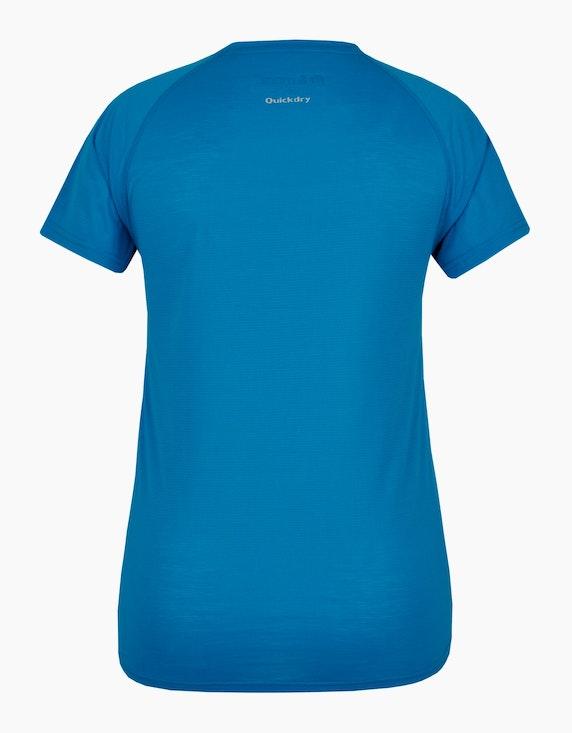 Fit&More Fitness T-Shirt mit großem Brustprint   ADLER Mode Onlineshop
