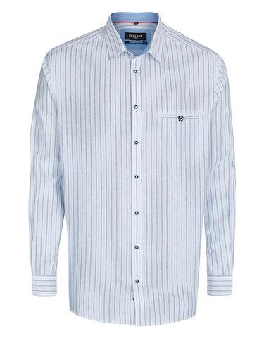 Produktbild zu <strong>Gestreiftes Freizeithemd mit Leinenanteil</strong>REGULAR FIT von Bexleys man