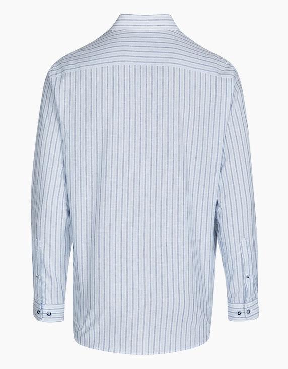 Bexleys man Gestreiftes Freizeithemd mit Leinenanteil, REGULAR FIT   ADLER Mode Onlineshop