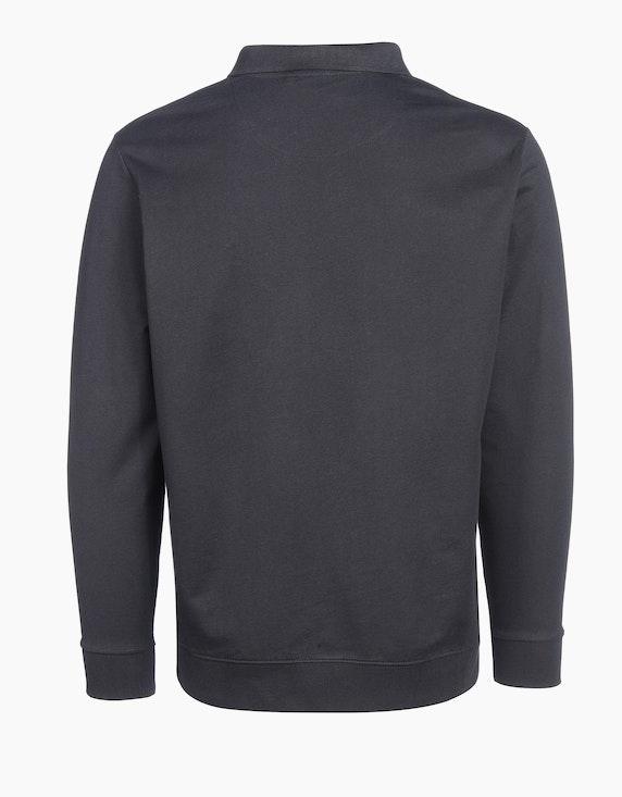 Bexleys man Polo-Sweatshirt unifarben | ADLER Mode Onlineshop