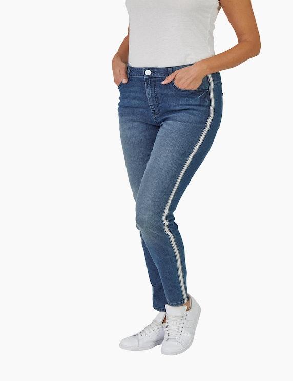Bexleys woman Jeans mit Waschung und Gallonstreifen | ADLER Mode Onlineshop