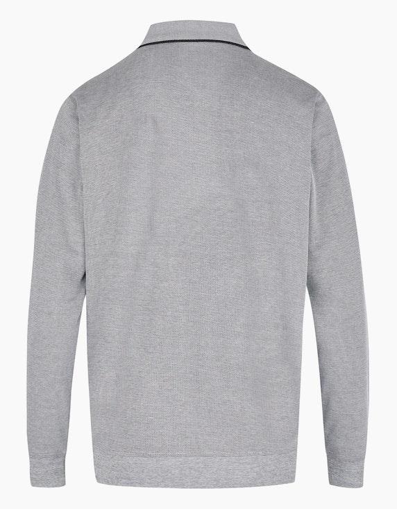 Bexleys man Langarm-Poloshirt in Jacquard Twotone | ADLER Mode Onlineshop
